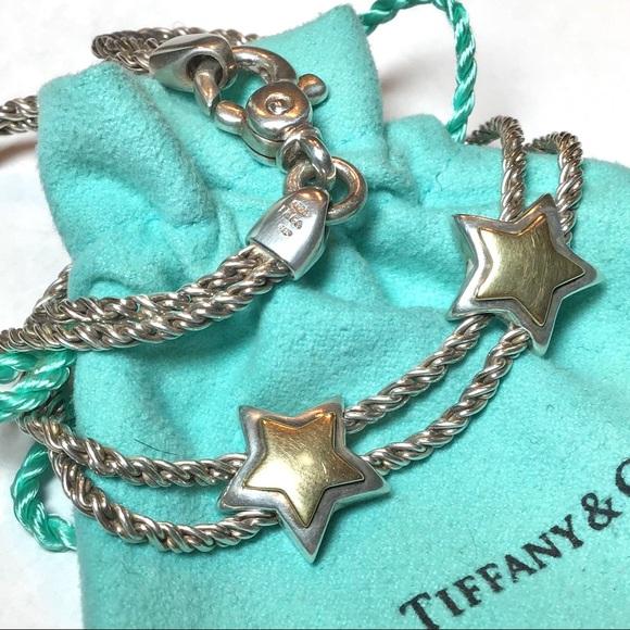 3a4823aaf Tiffany & Co. Jewelry | Sale Rare 3500 Tco 18k 925 Star Necklace ...